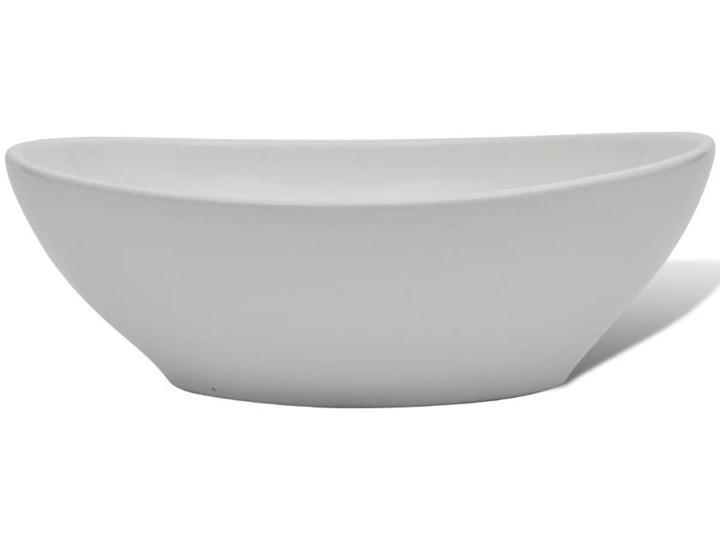 vidaXL Luksusowa ceramiczna umywalka, owalna, biała, 40 x 33 cm Ceramika Owalne Szerokość 40 cm Kolor Biały
