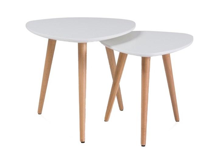 Zestaw dwóch stolików Lonao A biały