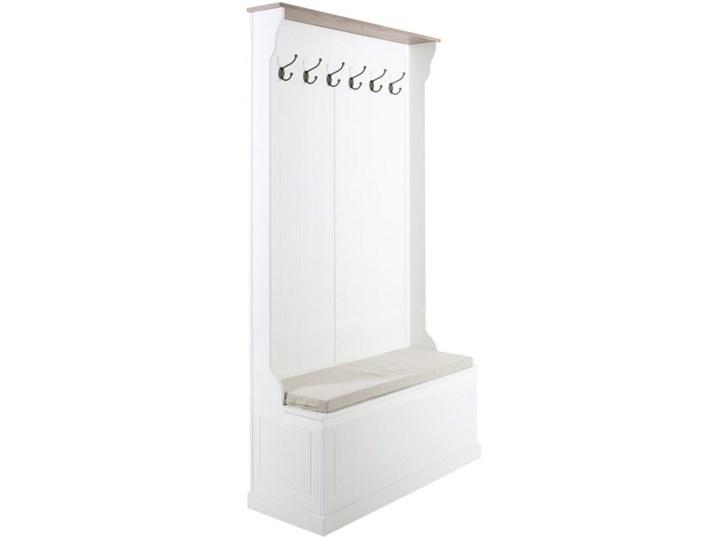 Garderoba z wieszakami i ławką Resta biała