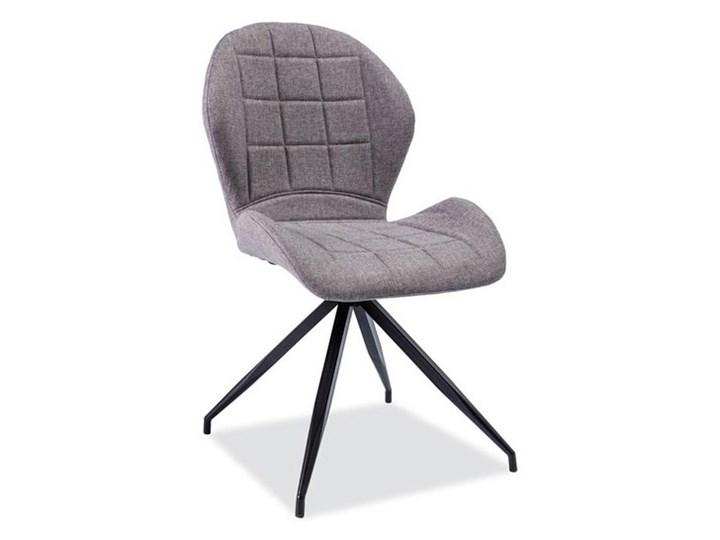 Krzesło tapicerowane Jane 2 grafitowe do biura nowoczesne