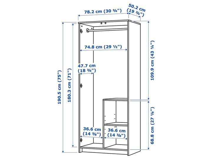 BRIMNES Szafa 2 drzwi Głębokość 50 cm Szerokość 78 cm Wysokość 190 cm Pomieszczenie Sypialnia