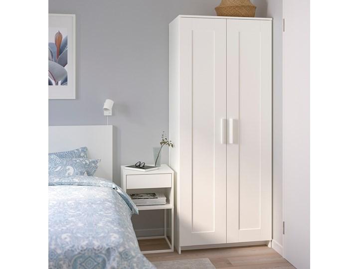 BRIMNES Szafa 2 drzwi Głębokość 50 cm Wysokość 190 cm Szerokość 78 cm Lustro Kolor Biały