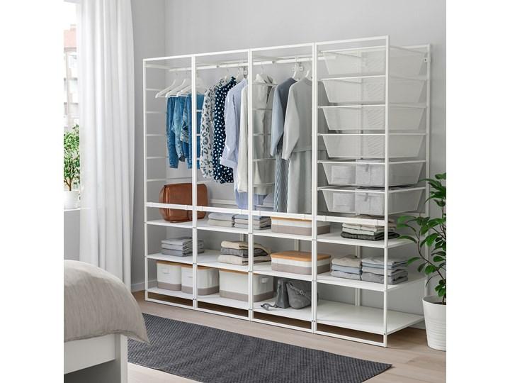 IKEA JONAXEL Kombinacja szafy, biały, 198x51x173 cm Metal Ilość drzwi Bez drzwi Stal Lustro