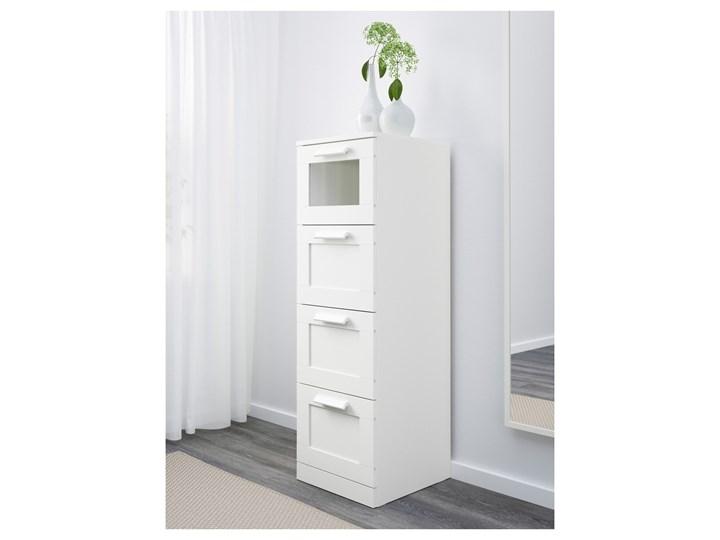 BRIMNES Komoda, 4 szuflady Z szufladami Wysokość 124 cm Głębokość 39 cm Szerokość 39 cm Głębokość 36 cm Głębokość 46 cm Kolor Biały