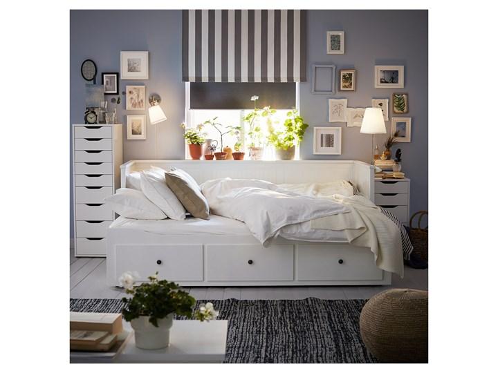 HEMNES Leżanka z 3 szufladami, 2 materace Kolor Biały Podwójne Kategoria Łóżka dla dzieci