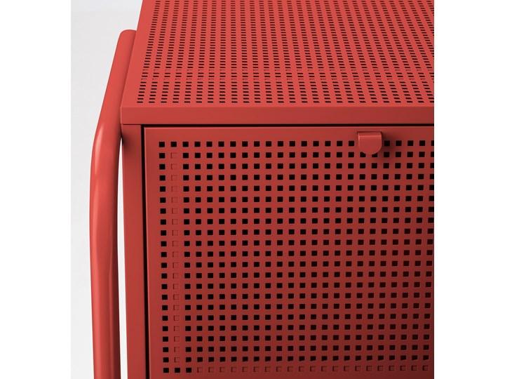 NIKKEBY Komoda, 4 szuflady Szerokość 84 cm Głębokość 49 cm Wysokość 84 cm Wysokość 70 cm Kolor Czerwony Z szufladami Styl Industrialny