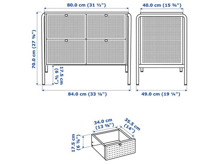 NIKKEBY Komoda, 4 szuflady Szerokość 84 cm Wysokość 84 cm Z szufladami Głębokość 49 cm Wysokość 70 cm Styl Industrialny