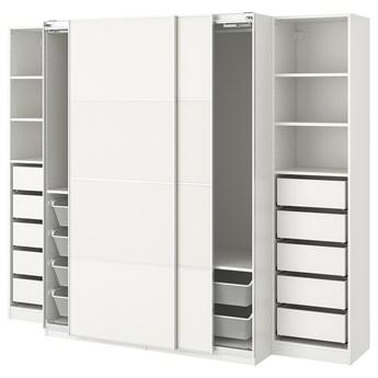 IKEA PAX Szafa, biały/Mehamn, 250x66x201 cm