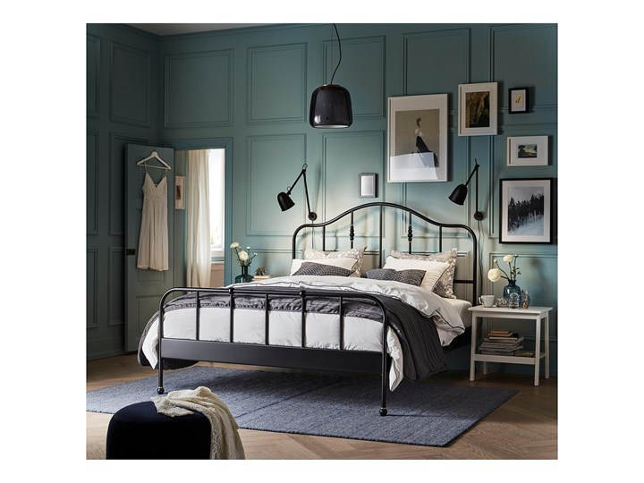 SAGSTUA Rama łóżka Łóżko metalowe Kolor Czarny