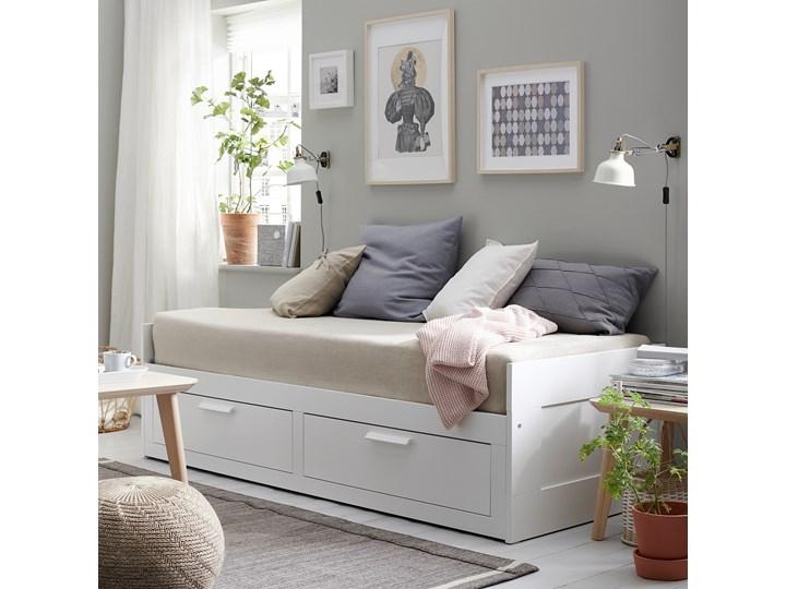 BRIMNES Leżanka z 2 szufladami, 2 materace Rozmiar materaca 80x200 cm Kolor Biały