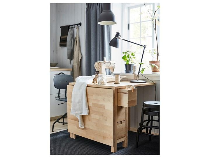 NORDEN Stół z opuszczanym blatem Drewno Długość 152 cm Długość 89 cm  Szerokość 80 cm Wysokość 74 cm Kolor Beżowy