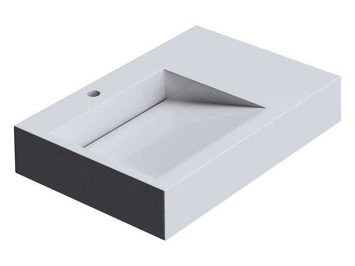 VELDMAN UMYWALKA KONGLOMERAT CASPAR 75x50cm Szerokość 75 cm Prostokątne Nablatowe Podwieszane Kategoria Umywalki