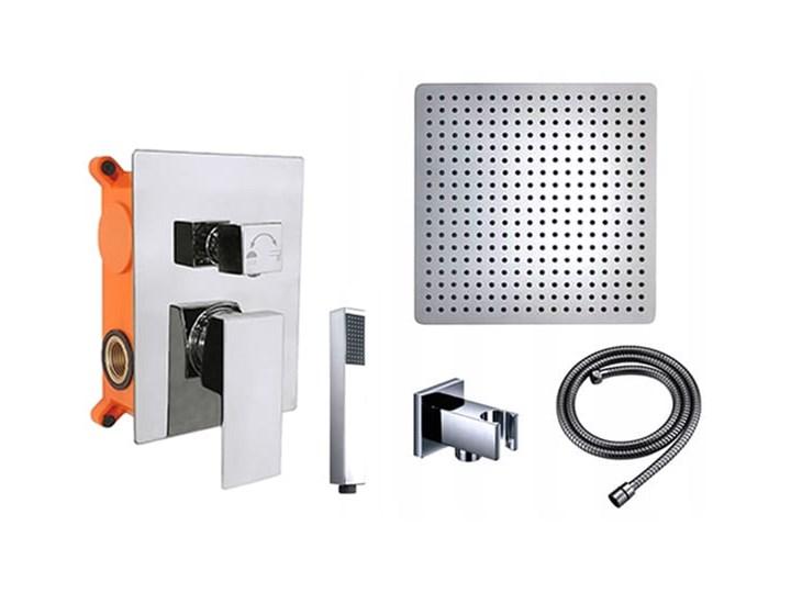 VELDMAN ZESTAW PODTYNKOWY DESZCZOWNICA SLIM QUADRO (rozmiar do wyboru) Kategoria Zestawy prysznicowe Wyposażenie Z uchwytem