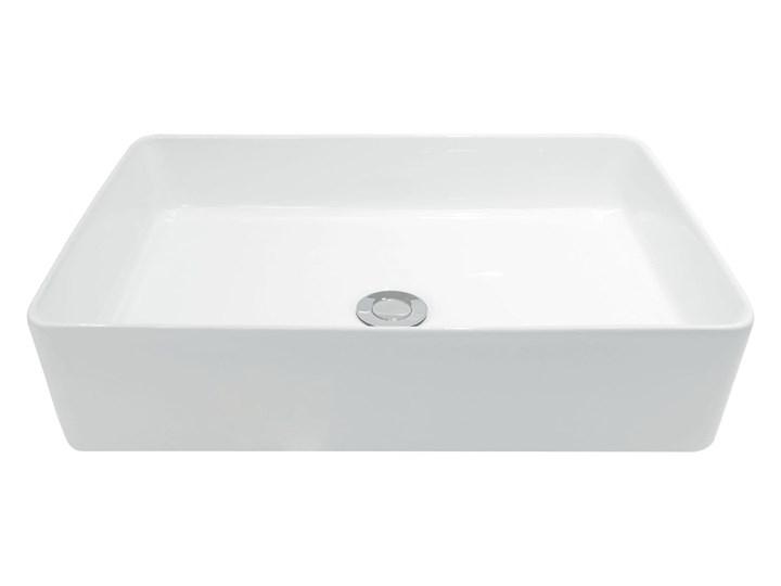 VELDMAN UMYWALKA CUBIC SLIM CIENKIE KRAWĘDZIE Nablatowe Meblowe Prostokątne Ceramika Szerokość 49 cm Kategoria Umywalki Kolor Biały