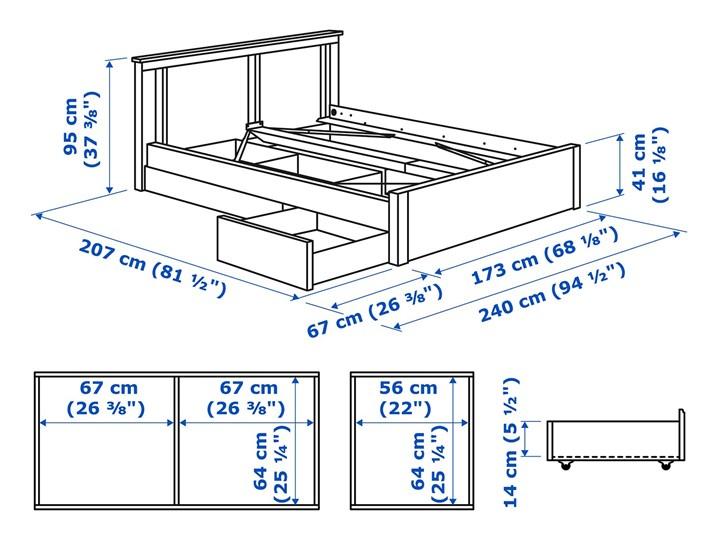 SONGESAND Rama łóżka z 2 pojemnikami Kategoria Łóżka do sypialni