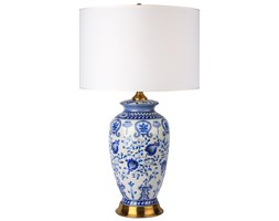 Lampa stołowa ceramiczna TIVOLI Blue granatowa