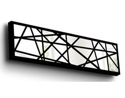 Dekoracja z elementami lustra w drewnianej ramce Vera, 108x28 cm