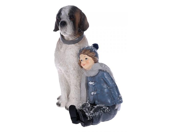 Figurka chłopczyk z psem 13x11x15 cm kod: ML9793