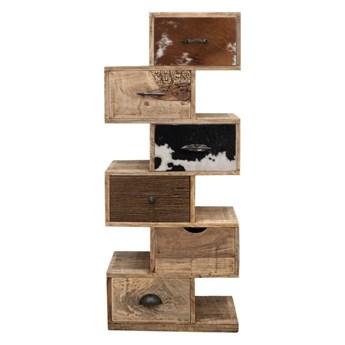 Szafka 6 szuflad- Wieża Szuflad Rodeo III - drewno mango M-8110