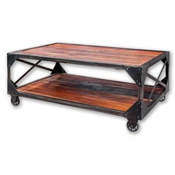 Postarzany stolik kawowy 45 x 120 x 70