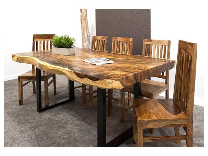 250cm OKAZAŁY stół drewniany jadalniany SUAR WOOD 250/~85-115. Waga ok. 200kg! Długość 110 cm  Stal Długość 250 cm Drewno Kategoria Stoły kuchenne