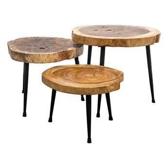 Zestaw okrągłych stolików kawowych Suar