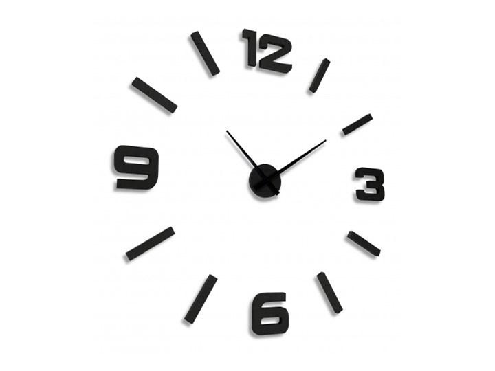 Naklejany zegar ścienny drewniany EKO 130cm