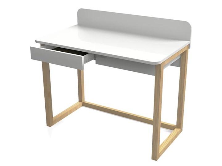 białe biurko w stylu skandynawskim margo