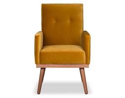 Krzesło Klematisar welurowe (Welur bawełna 100% MUSZTARDOWY :welur/MUSZTARDOWY)