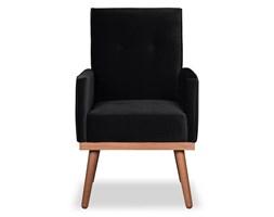 Krzesło Klematisar welurowe (Welur bawełna 100% CZARNY :welur/CZARNY)
