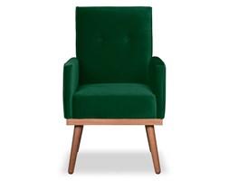 Krzesło Klematisar welurowe (Welur bawełna 100% ZIELONY :welur/ZIELONY)