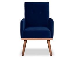 Krzesło Klematisar welurowe (Welur bawełna 100% |GRANATOWY :welur/GRANATOWY)