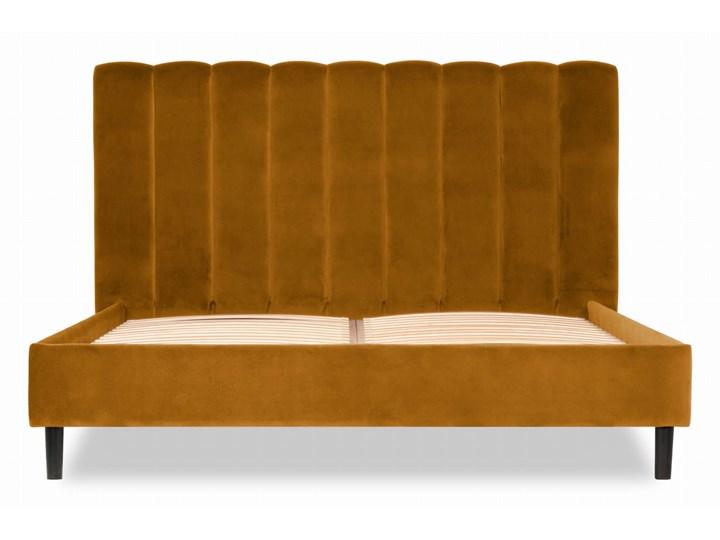 Łóżko Magnolia (160X200) (Welur bawełna 100% MUSZTARDOWY :welur/MUSZTARDOWY)
