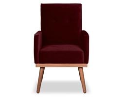 Krzesło Klematisar welurowe (Welur bawełna 100% BORDOWY :welur/BORDOWY)