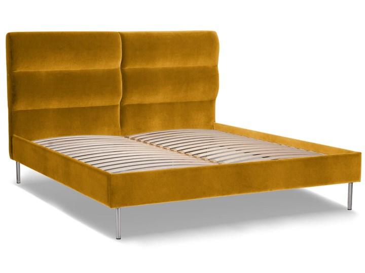 Łóżko Forsythian (140X200) Welurowe (Welur bawełna 100% MUSZTARDOWY 2219 :welur/MUSZTARDOWY2)