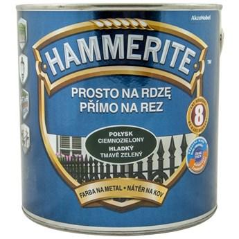 Farba Hammerite na rdzę 2,5l Ciemnozielony połysk