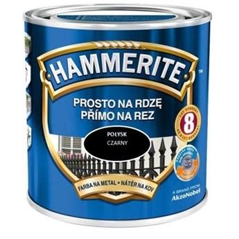 Farba Hammerite Prosto na rdzę 2,5 l Czarny połysk