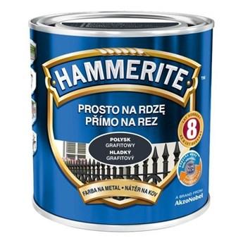 Farba Hammerite na rdzę 2,5 l Grafitowy połysk