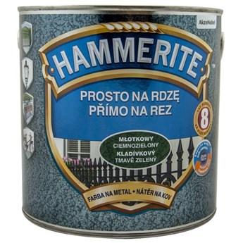 Hammerite na rdzę 2,5l Ciemnozielony młotkowy