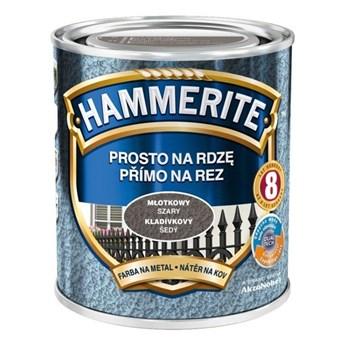 Farba Hammerite na rdzę 2,5l Szary młotkowy