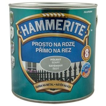 Farba Hammerite na rdzę 2,5l Półmat szary