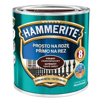 Farba Hammerite na rdzę 2,5 l Ciemnobrązowy półmat