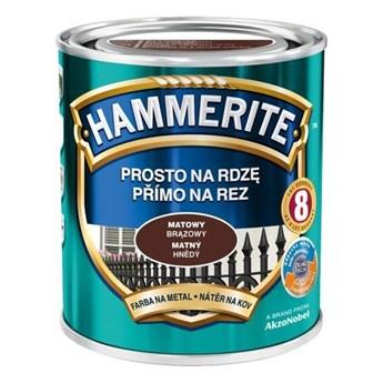 Farba Hammerite Prosto na rdzę 2,5l Brązowy matowy