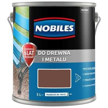 Farba do drewna i metalu 5l brąz czekoladowy
