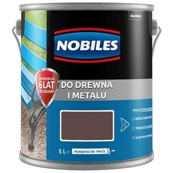 Farba do drewna i metalu 5l brązowa Ftalonal