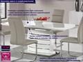 Stół rozkładany Doren - biały połysk Długość 200 cm  Szerokość 90 cm Styl Nowoczesny Wysokość 76 cm Kategoria Stoły kuchenne
