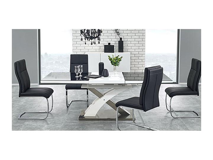 Stół rozkładany Zander - czarny Szerokość 90 cm Długość 220 cm Wysokość 75 cm Rozkładanie