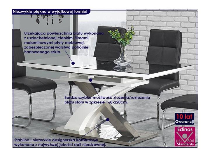 Stół rozkładany Zander - czarny Wysokość 75 cm Szerokość 90 cm Długość 220 cm Kształt blatu Prostokątny