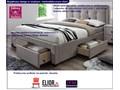 Łóżko tapicerowane Devoro - beżowe Rozmiar materaca 160x200 cm