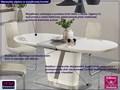Stół rozkładany Ibero Długość 200 cm  Płyta laminowana Wysokość 76 cm Szerokość 90 cm Styl Minimalistyczny Kolor Biały